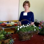 #Sylvia Tweten demonstrating hanging flower baskets 7-12-16 IMG_0142